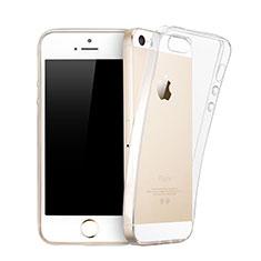 Apple iPhone 5S用極薄ソフトケース シリコンケース 耐衝撃 全面保護 クリア透明 アップル クリア