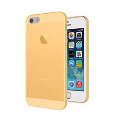 Apple iPhone 5S用極薄ケース クリア透明 シリコンケース 耐衝撃 全面保護 アップル ゴールド