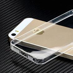 Apple iPhone 5S用極薄ソフトケース シリコンケース 耐衝撃 全面保護 クリア透明 カバー HT01 アップル クリア