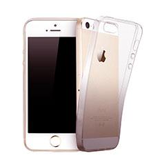 Apple iPhone 5S用極薄ソフトケース グラデーション 勾配色 クリア透明 アップル グレー