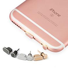 Apple iPhone 5S用アンチ ダスト プラグ キャップ ストッパー Lightning USB J04 アップル ローズゴールド