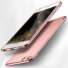 Apple iPhone 6用極薄ソフトケース シリコンケース 耐衝撃 全面保護 クリア透明 H15 アップル ピンク