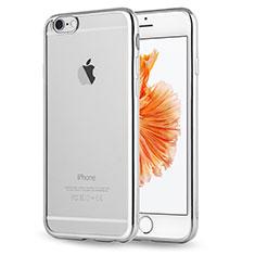 Apple iPhone 6用極薄ソフトケース シリコンケース 耐衝撃 全面保護 クリア透明 H17 アップル シルバー