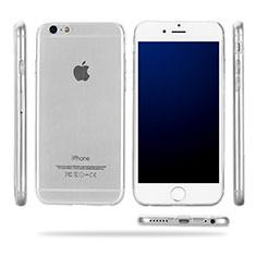 Apple iPhone 6用極薄ソフトケース シリコンケース 耐衝撃 全面保護 クリア透明 T09 アップル クリア