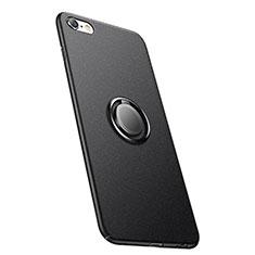 Apple iPhone 6用ハードケース プラスチック 質感もマット アンド指輪 A05 アップル ブラック