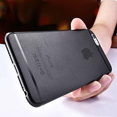 Apple iPhone 6用極薄ケース クリア透明 プラスチック T06 アップル ブラック