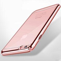 Apple iPhone 6用ハードカバー クリスタル クリア透明 アップル ピンク