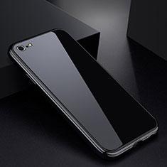 Apple iPhone 6用ケース 高級感 手触り良い アルミメタル 製の金属製 バンパー 鏡面 カバー アップル ブラック