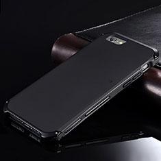 Apple iPhone 6用ケース 高級感 手触り良い アルミメタル 製の金属製 カバー アップル ブラック