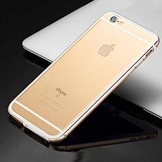 Apple iPhone 6用ケース 高級感 手触り良い アルミメタル 製の金属製 バンパー カバー アップル ゴールド