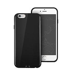 Apple iPhone 6用シリコンケース ソフトタッチラバー アップル ブラック