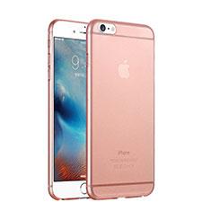 Apple iPhone 6用極薄ケース クリア透明 プラスチック アップル ローズゴールド