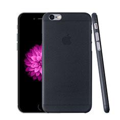 Apple iPhone 6用極薄ケース クリア透明 プラスチック アップル ダークグレー