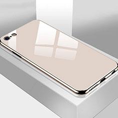 Apple iPhone 6 Plus用ハイブリットバンパーケース プラスチック 鏡面 カバー M02 アップル ゴールド