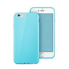 Apple iPhone 6 Plus用シリコンケース ソフトタッチラバー アップル ブルー