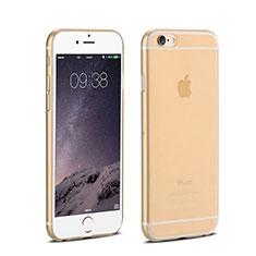 Apple iPhone 6 Plus用極薄ケース クリア透明 プラスチック アップル ゴールド