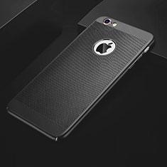Apple iPhone 6S用ハードケース プラスチック メッシュ デザイン カバー アップル ブラック