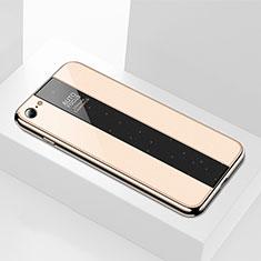 Apple iPhone 6S用ハイブリットバンパーケース プラスチック 鏡面 カバー M01 アップル ゴールド