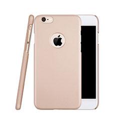 Apple iPhone 6S用ハードケース プラスチック 質感もマット ロゴを表示します アップル ローズゴールド