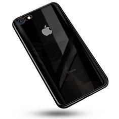 Apple iPhone 7用極薄ソフトケース シリコンケース 耐衝撃 全面保護 クリア透明 C02 アップル ブラック