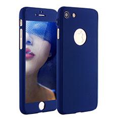 Apple iPhone 7用ハードケース プラスチック 質感もマット 前面と背面 360度 フルカバー P01 アップル ネイビー