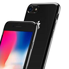 Apple iPhone 7用ハイブリットバンパーケース クリア透明 プラスチック アップル ブラック