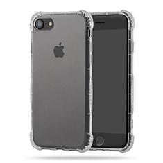 Apple iPhone 7用極薄ソフトケース シリコンケース 耐衝撃 全面保護 クリア透明 T10 アップル クリア