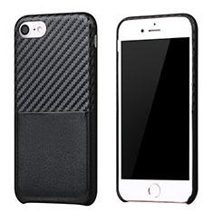 Apple iPhone 8用シリコンケース ソフトタッチラバー ツイル B05 アップル ブラック