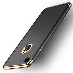 Apple iPhone 8用ケース 高級感 手触り良い メタル兼プラスチック バンパー M02 アップル ブラック