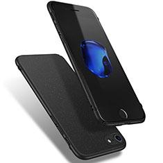 Apple iPhone 8用ハードケース カバー プラスチック Q02 アップル ブラック