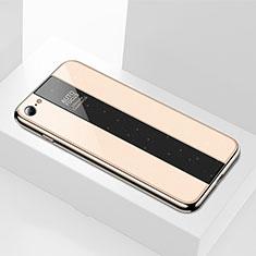 Apple iPhone 8用ハイブリットバンパーケース プラスチック 鏡面 カバー M01 アップル ゴールド