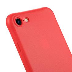 Apple iPhone 8用シリコンケース ソフトタッチラバー C01 アップル レッド
