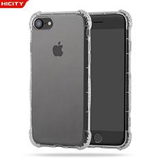 Apple iPhone 8用極薄ソフトケース シリコンケース 耐衝撃 全面保護 クリア透明 T10 アップル クリア
