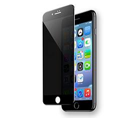 Apple iPhone 8用強化ガラス フル液晶保護フィルム F19 アップル ブラック