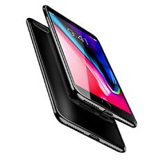 Apple iPhone 8 Plus用極薄ソフトケース シリコンケース 耐衝撃 全面保護 クリア透明 A08 アップル ブラック
