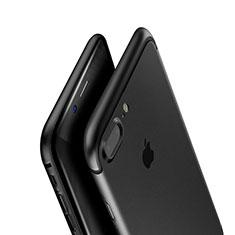 Apple iPhone 8 Plus用極薄ソフトケース シリコンケース 耐衝撃 全面保護 A01 アップル ブラック