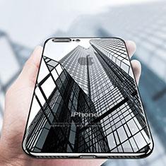 Apple iPhone 8 Plus用極薄ソフトケース シリコンケース 耐衝撃 全面保護 クリア透明 A14 アップル ブラック