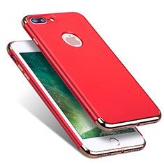 Apple iPhone 8 Plus用ケース 高級感 手触り良い メタル兼プラスチック バンパー R01 アップル レッド