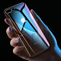 Apple iPhone 8 Plus用極薄ソフトケース シリコンケース 耐衝撃 全面保護 クリア透明 HC01 アップル ブラック