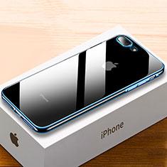 Apple iPhone 8 Plus用極薄ソフトケース シリコンケース 耐衝撃 全面保護 クリア透明 HC02 アップル ネイビー