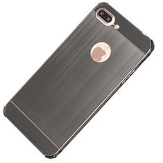 Apple iPhone 8 Plus用ケース 高級感 手触り良い アルミメタル 製の金属製 カバー M01 アップル ダークグレー
