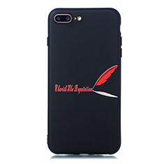 Apple iPhone 8 Plus用シリコンケース ソフトタッチラバー バタフライ パターン カバー S01 アップル レッド