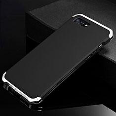 Apple iPhone 8 Plus用ケース 高級感 手触り良い アルミメタル 製の金属製 カバー アップル シルバー・ブラック