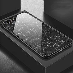 Apple iPhone 8 Plus用ハイブリットバンパーケース プラスチック 鏡面 カバー アップル ブラック
