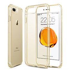 Apple iPhone 8 Plus用極薄ソフトケース シリコンケース 耐衝撃 全面保護 クリア透明 アップル ゴールド