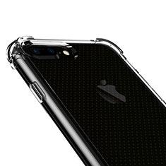 Apple iPhone 8 Plus用極薄ソフトケース シリコンケース 耐衝撃 全面保護 クリア透明 T06 アップル クリア