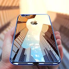 Apple iPhone SE (2020)用極薄ソフトケース シリコンケース 耐衝撃 全面保護 クリア透明 T21 アップル ネイビー