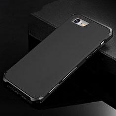 Apple iPhone SE (2020)用ケース 高級感 手触り良い アルミメタル 製の金属製 カバー アップル ブラック
