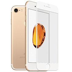 Apple iPhone SE (2020)用強化ガラス フル液晶保護フィルム F18 アップル ホワイト