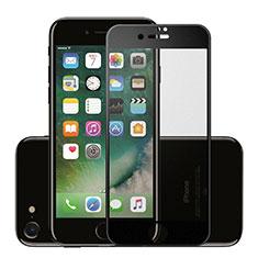 Apple iPhone SE (2020)用強化ガラス フル液晶保護フィルム F16 アップル ブラック